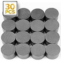 "60 Round Ceramic Refrigerator//Craft Magnets w// Adhesive Backing-7//8/"" Round Disc"