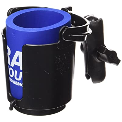RAM Level Cup 16oz Drink Holder with Double Socket Arm: Automotive