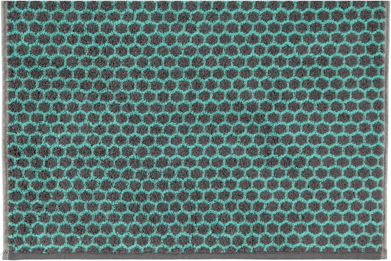 50 x 100 cm 47 Caw/ö Home Loft Allover 133 colore: Pepper antracite Asciugamani 100/% cotone