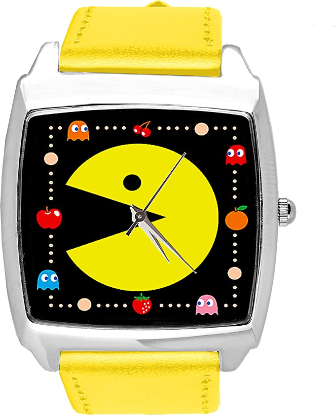 Pac-Man Watch with gift bag and spare battery