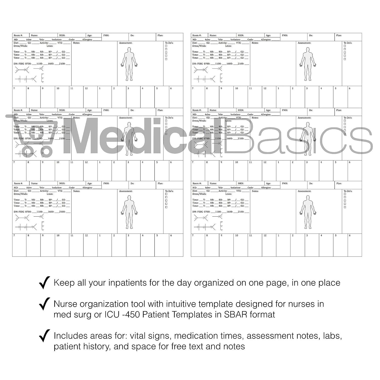 Amazon Nursing Brain Sheet Multiple Patient Notebook Nurse