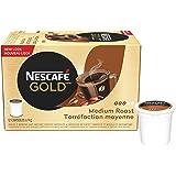 NESCAFÉ Gold Medium Roast & Ground Coffee Capsules, K-Cup Compatible Pods, 12 Capsules