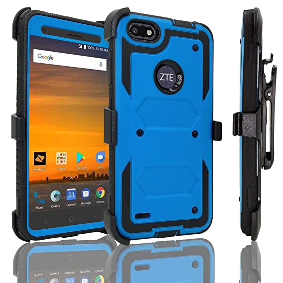 low priced f4c3d 59237 Amazon.com: ZTE Blade Force Case with [Tempered Glass Screen ...