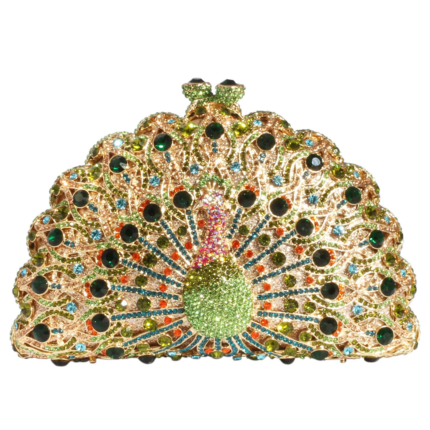 Digabi Peacock Women Crystal Evening Clutch Bags (One Size : 6.54.43 IN, style B crystal - gold plated) by Digabi