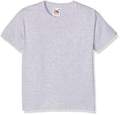 eb00c1c8 Fruit of the Loom Unisex Kids Valueweight Short Sleeve T-Shirt, Heather  Grey, 9-11 Years (Manufacturer Size:32): Amazon.co.uk: Clothing