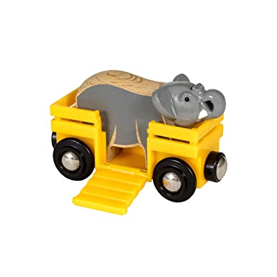 Brio 33969 World-Safari Elephant & Wagon,: Toys & Games
