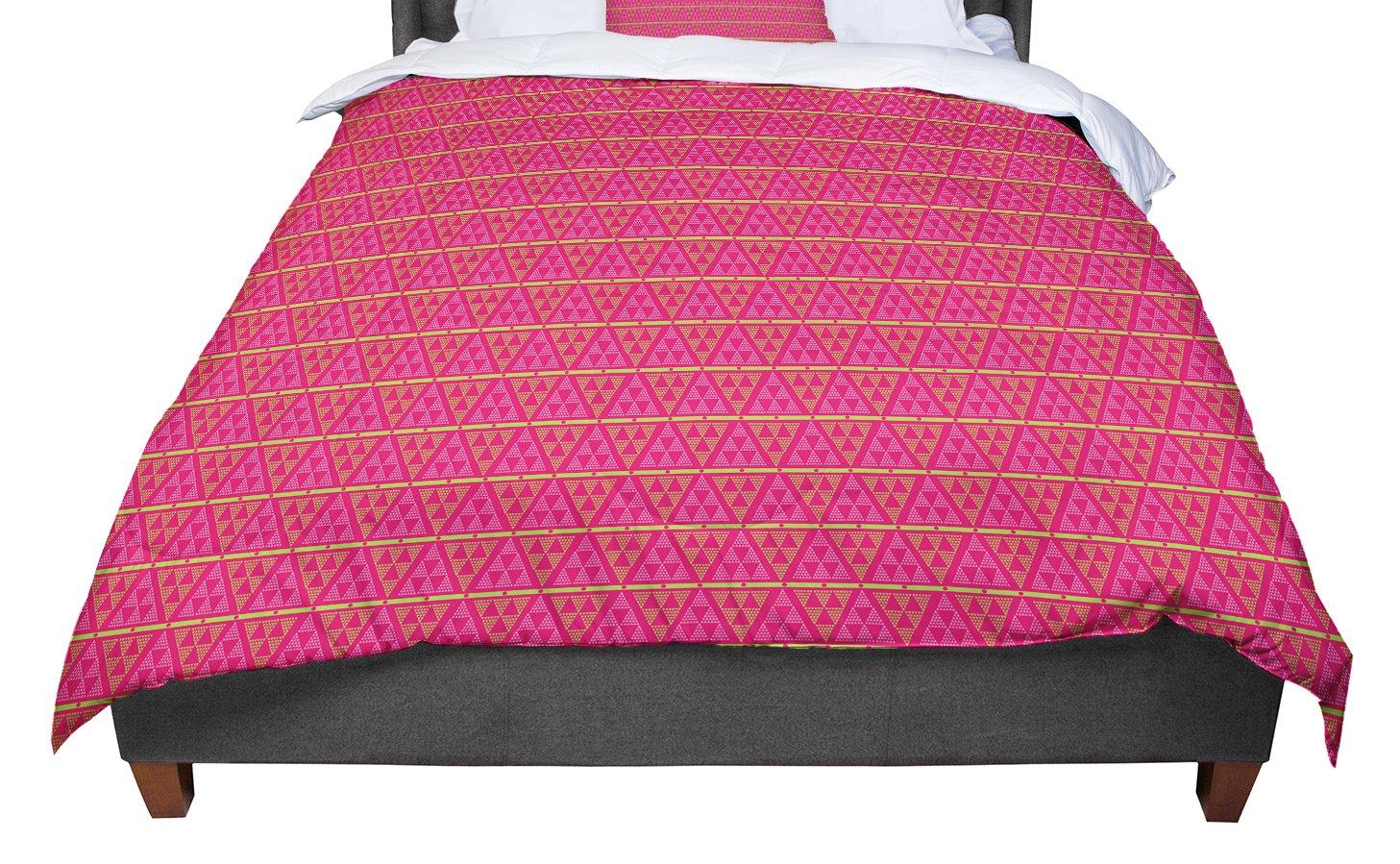 Kess InHouse Julie Hamilton Woven Red Pink Bed Runner
