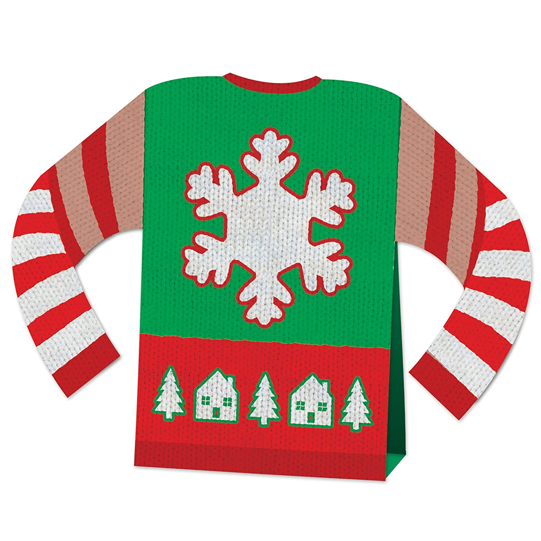 Beistle 20887 3-D Ugly Sweater Centerpiece Multicolor 8 8