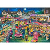 """1000 Piece Jigsaw Puzzle - Find the Differences No. 13 - 'Village Fayre' """"New July 2017"""""""