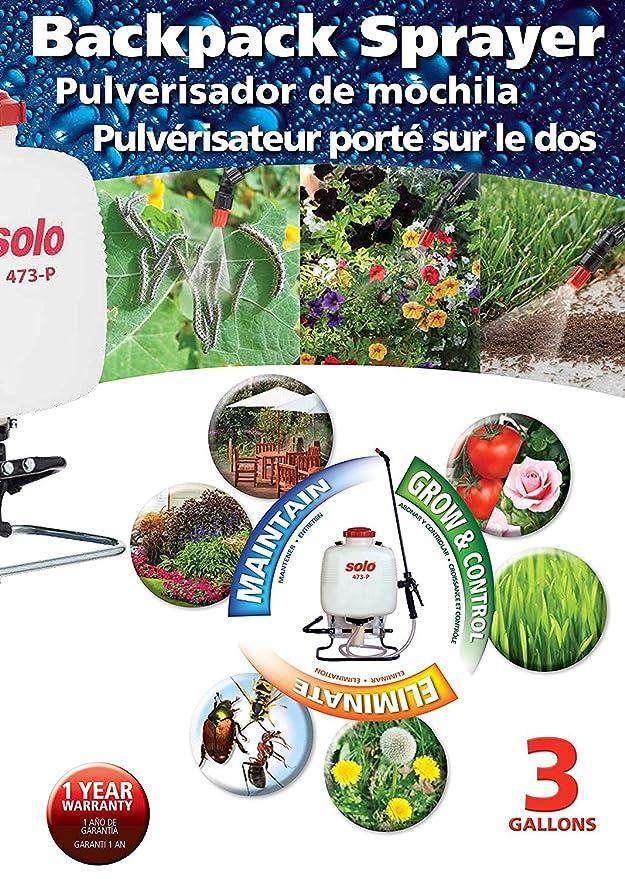 Amazon.com : Solo 473-P 3-Gallon Professional Backpack Sprayer (Pack of 2) : Garden & Outdoor