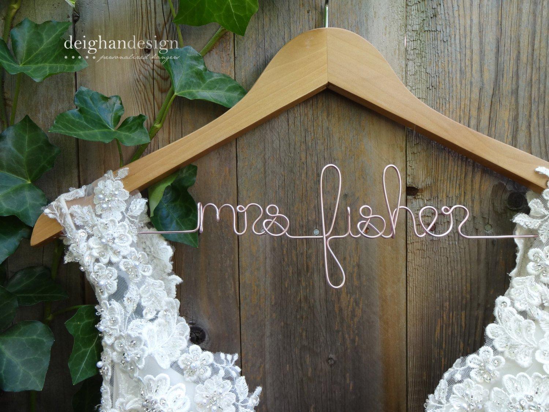 Personalized Wedding Dress Hanger