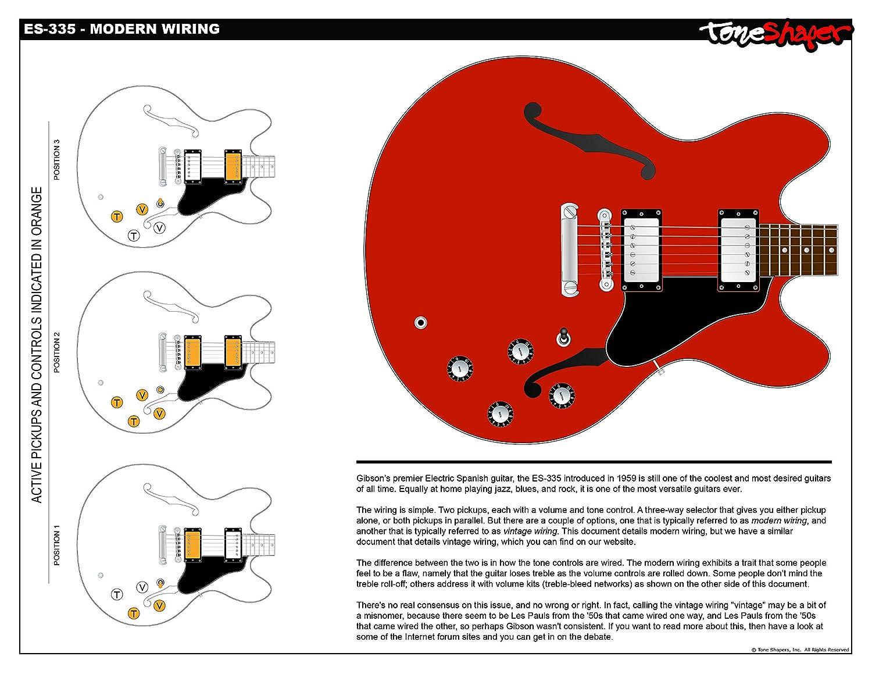 Toneshaper Guitar Wiring Kit  For Es