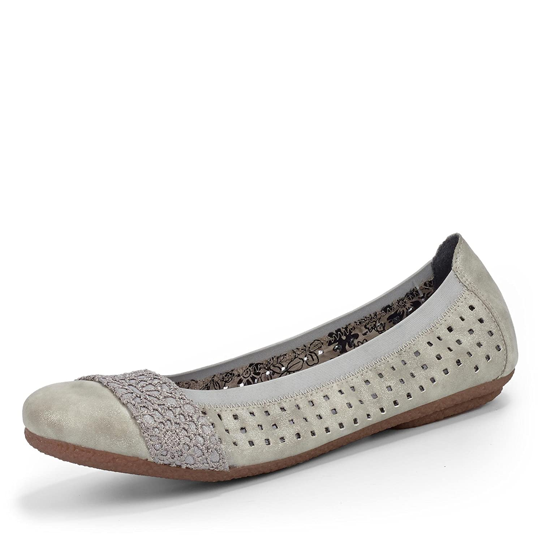 Schnelle Lieferung Damen Schuhe silber Rieker Ballerina