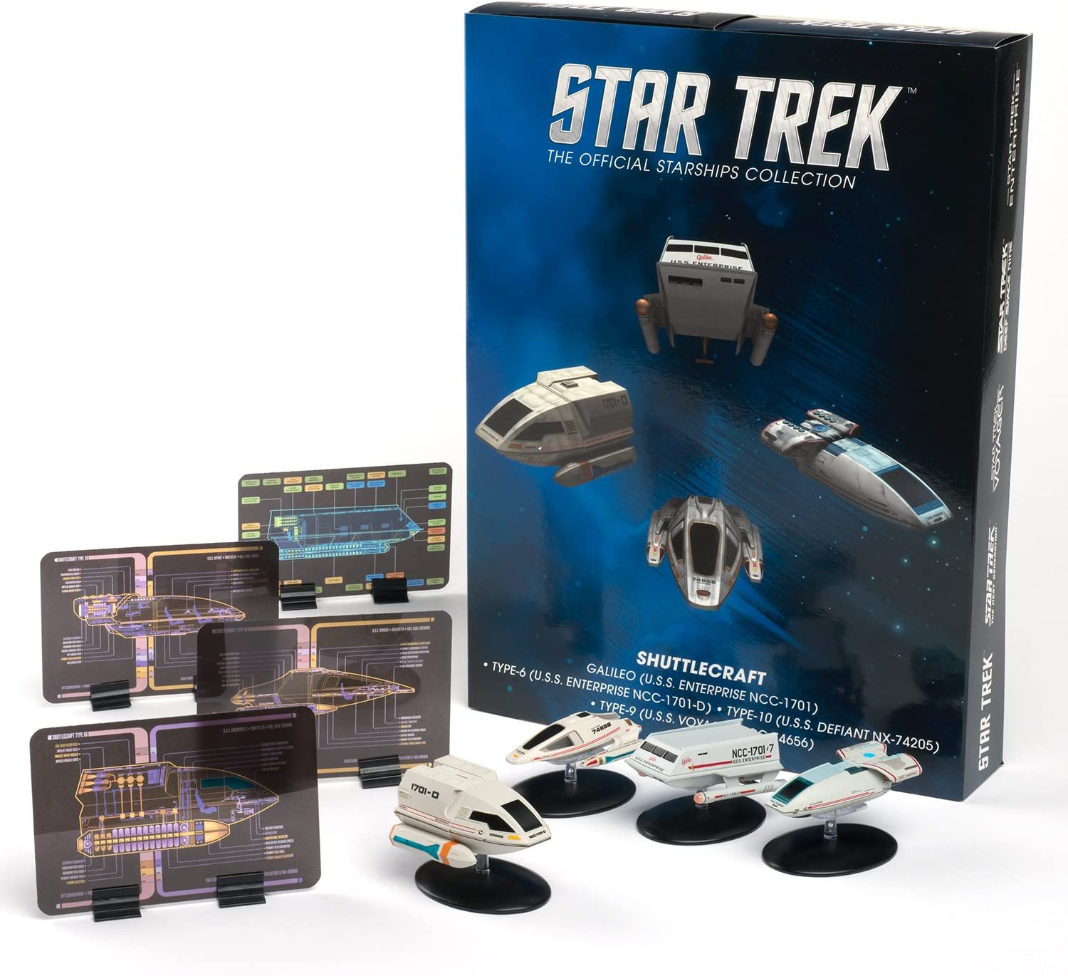 STAR TREK Eaglemoss Ships: Shuttlecraft 4-Pack: Amazon.es: Juguetes y juegos