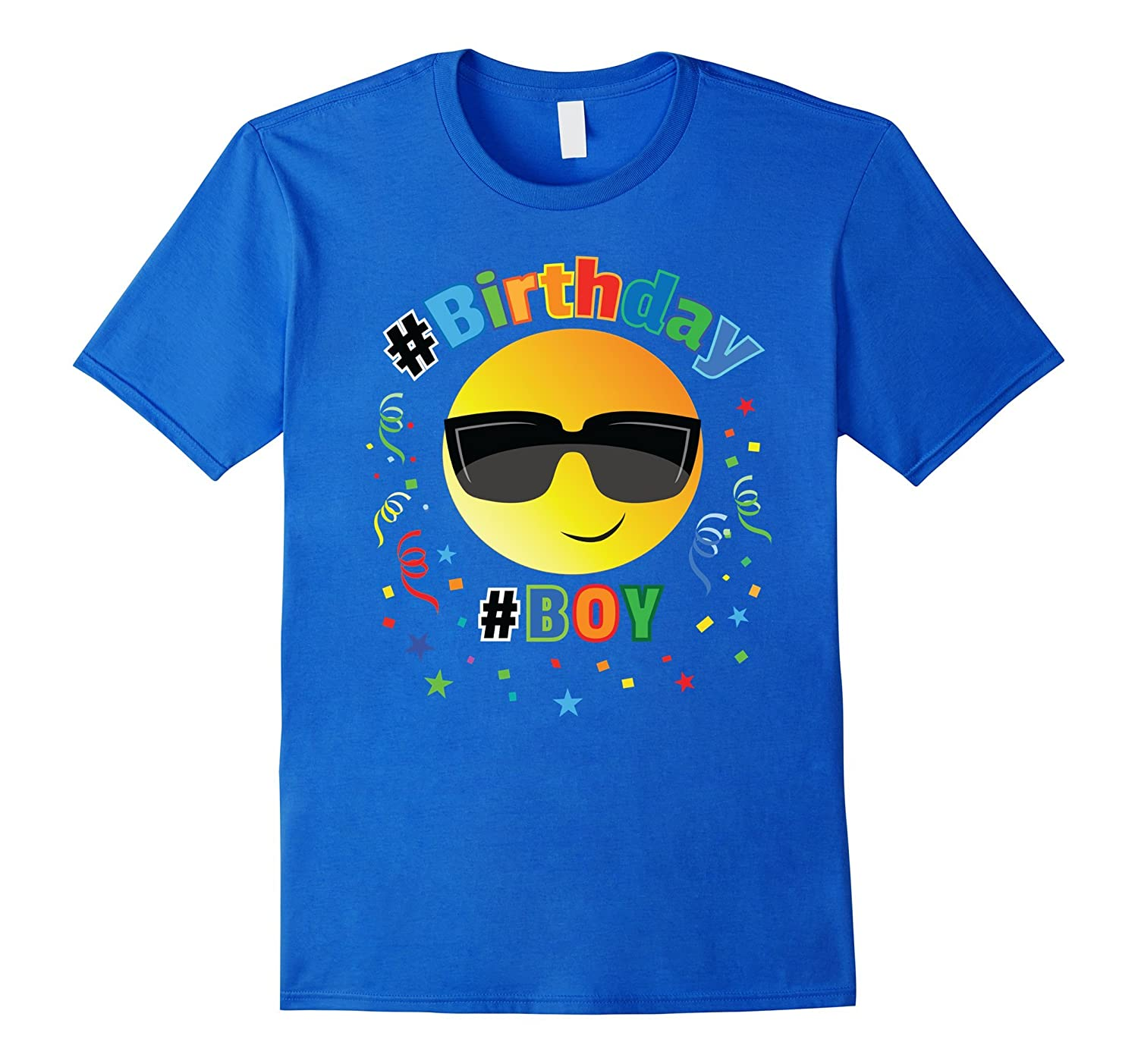 Cool Emoji Birthday Shirt For Boys 6 7 8 9 10 11 12-CD
