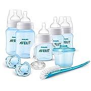 Philips AVENT Anti-Colic Bottle Newborn Starter Set, Blue