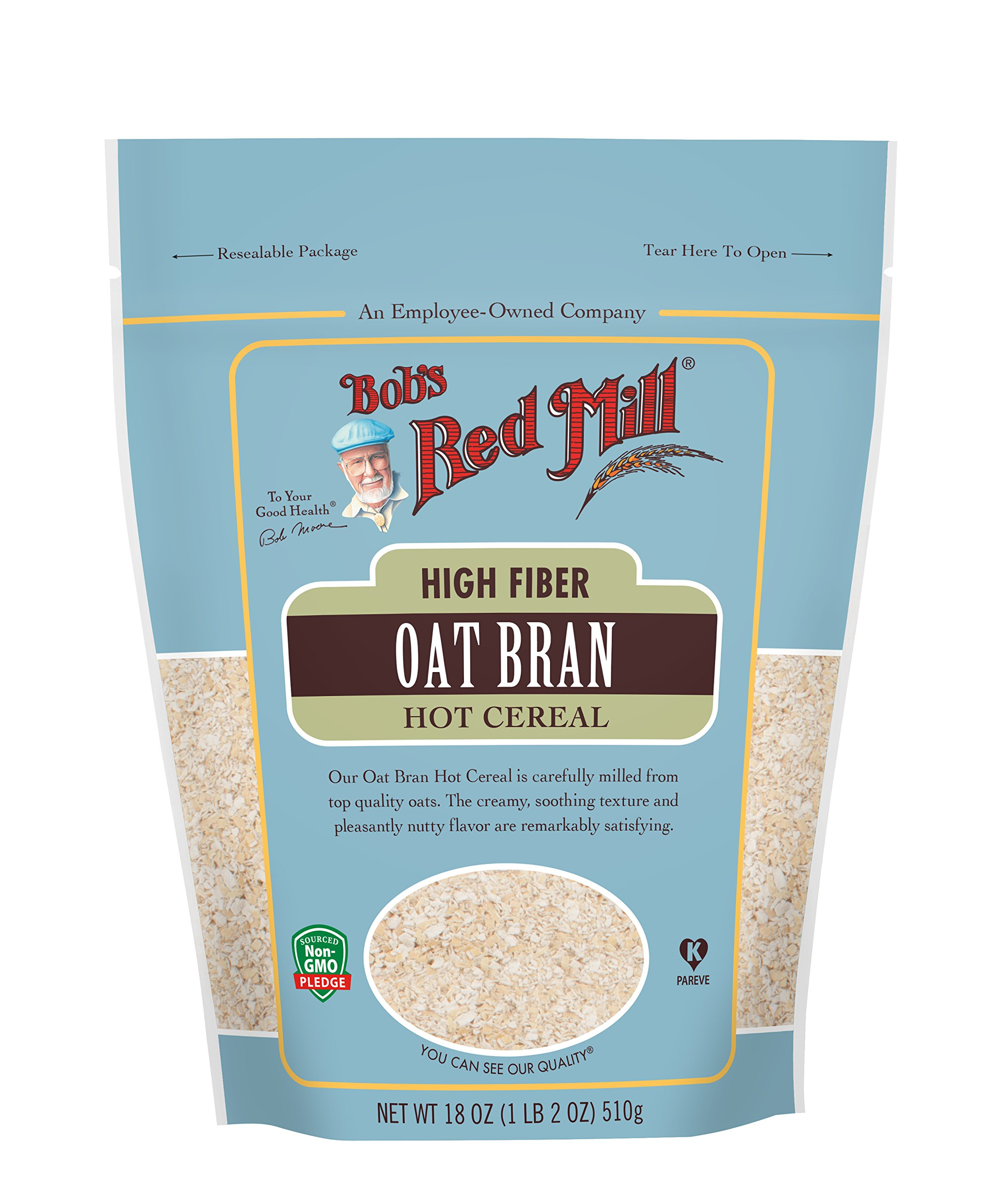 Bob's Red Mill Oat Bran Hot Cereal, 18 Oz
