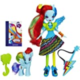 HASBRO MY LITTLE PONY EQUESTRIA GIRLS ROCKS RAINBOW DASH DOLL AND PONY SET NEW