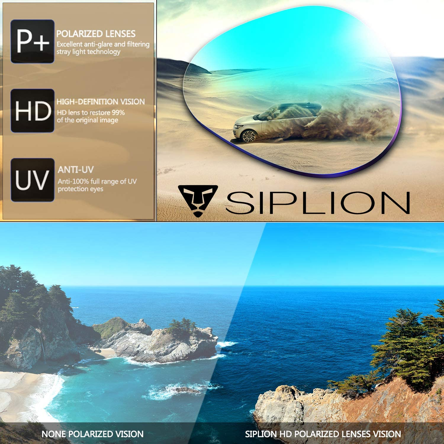 SIPLION Men's Polarized Sunglasses Sports Glasses for Cycling Fishing Golf TR90 Superlight Frame 502 Silver: Shoes