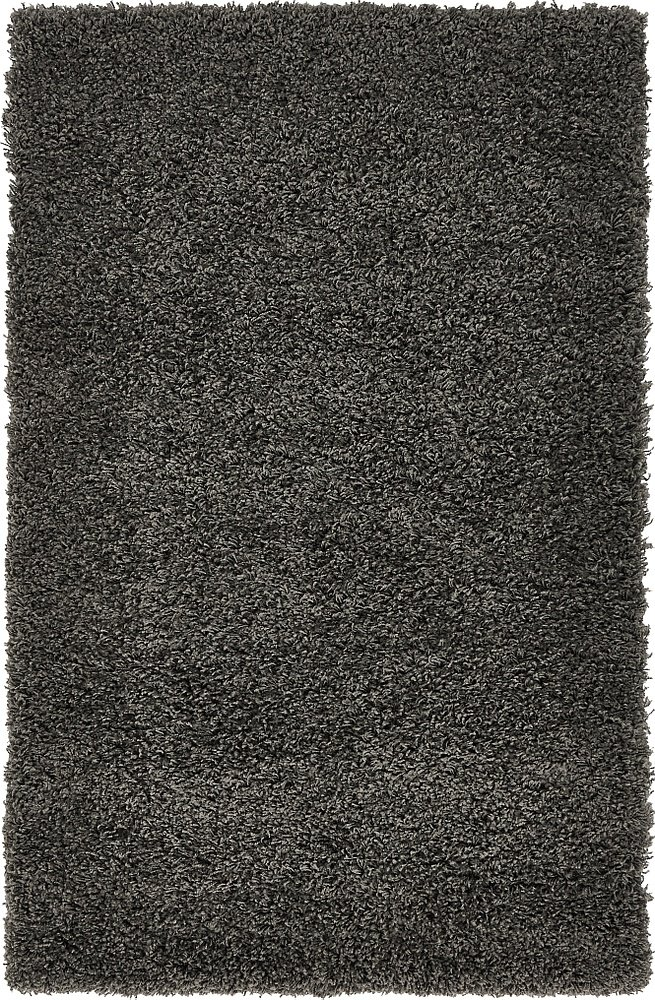 Unique Loom Solo Solid Shag Collection Modern Plush Graphite Gray Area Rug (3' 3 x 5' 3) - This rug is perfect for those high traffic areas in your home. It's also kid and pet friendly! This rug is water resistant, mold and mildew resistant, stain resistant, and does not shed. Cleaning Instructions: We recommend spot cleaning with resolve, and regular vacuuming is good, but you can't use the beater bar (spinning brush) on the vacuum. It needs to be suction-only or take it outside and shake it out. You can use a carpet cleaner (shampooer) but it should be dried immediately and evenly. - living-room-soft-furnishings, living-room, area-rugs - 81sjbLvV60L -