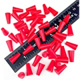 High Temp Masking Supply 3/16' X 11/32' 600º Silicone Rubber Plugs for Powder Coating, Cerakote, Paint & General Sealing…