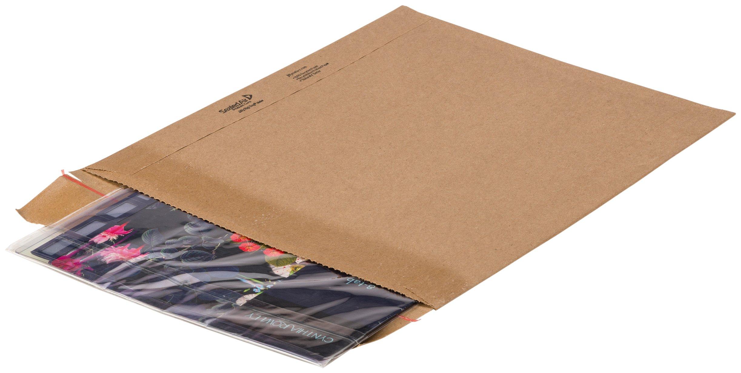 Jiffy Rigi Bag Mailer 89355 #6, 12-3/8'' x 14-7/8'', Natural Kraft (Pack of 100)