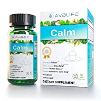 Avalife Calm - NAT Ural Stress & Anxiety Relief Supplements for Relaxation for Men & Women - Gluten Free, Vegan & Non-GMO - 60 Capsules