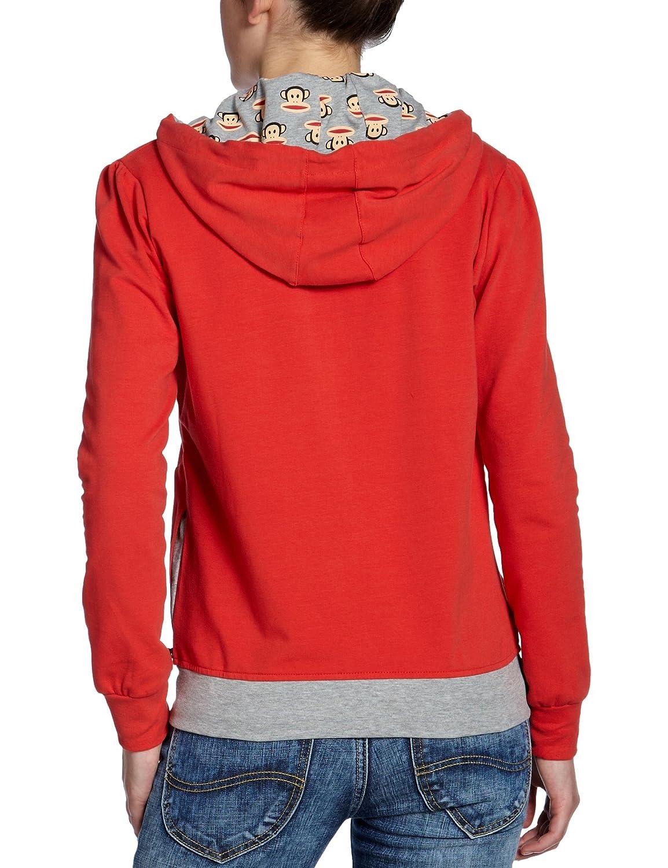 Paul Frank - Sudadera para mujer, tamaño XS, color rojo: Amazon.es: Deportes y aire libre