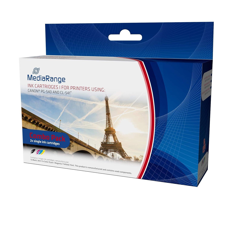 MediaRange - Cartuchos de tinta remanufacturados para Canon PG-540 ...