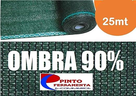 Rollo 25 mt Malla Lona Ocultación Verde – H 150 – para Red metálica: Amazon.es: Jardín