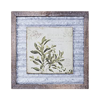 Paris Loft Rustic Framed Wooden Wall Decor Vintage Wood And Corrugated Metal Wall Art 15 75 X15 75