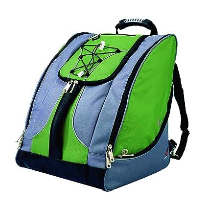 5283f23bd8c6 Amazon.com   Athalon Everything Boot Bag (Green Gray)   Snow Sports ...