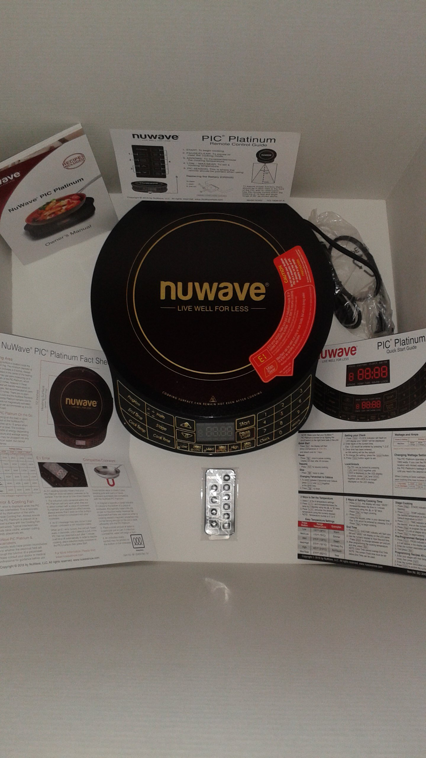 NuWave Platinum 30401 Precision Induction Cooktop, Black with Remote and Advanced Features for 2017 by NuWave (Image #1)