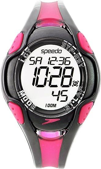 Incidente, evento Tranquilizar Más grande  Speedo Women's Black and Purple 50 Lap Watch SD55155: Amazon.co.uk: Watches