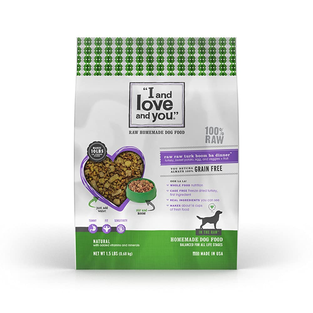 """I and love and you"" In the Raw 'Raw Raw Turk Boom Ba' Grain Free Dehydrated Dog Food, 1.5 LB"