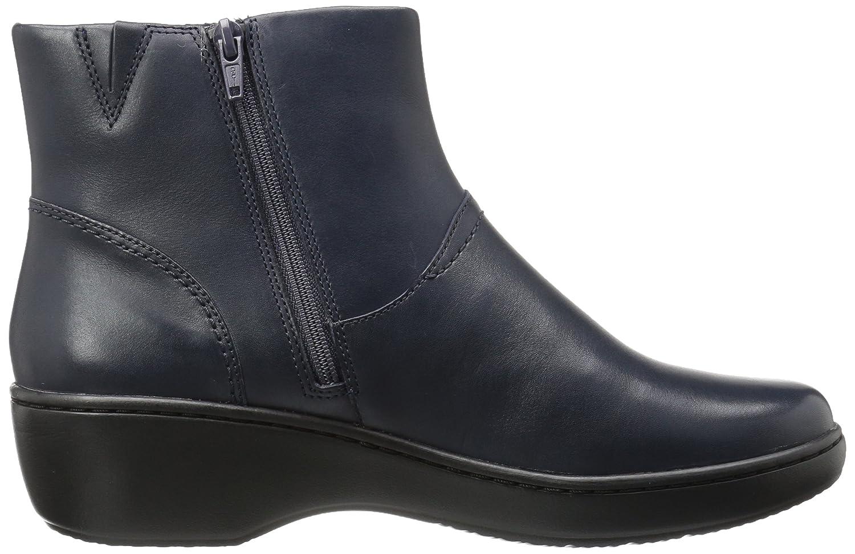 CLARKS Women's Delana Joleen Boot B01MT62GC2 8.5 W US|Navy Leather