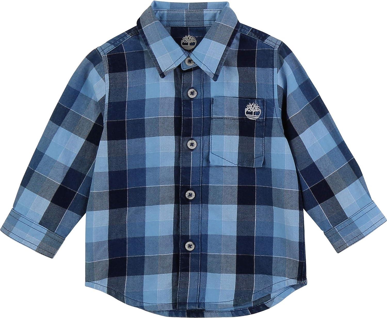 Timberland Camisa de algodón a Cuadros Infantil: Amazon.es: Ropa y accesorios