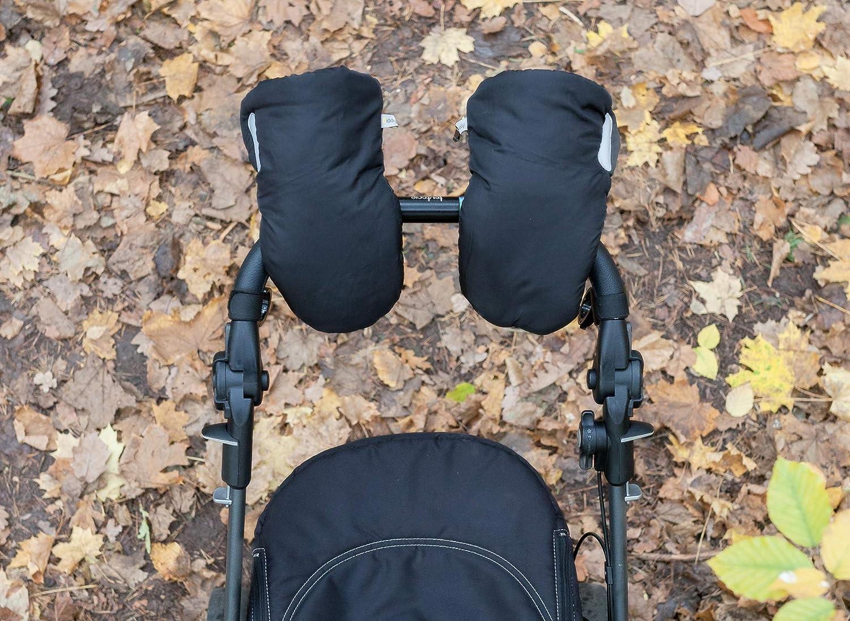 extra c/álidas transpirables Biddy Manoplas para carro de beb/é I guantes para sillas de paseo impermeables