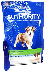 Authority Puppy Tender Blends Dry Dog Food (Chicken and Rice) 5lbs and Especiales Cosas Mixing Spatula