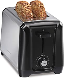 Hamilton Beach Stainless Steel 2-Slice Extra-Wide Toaster with Shade Selector, Toast Boost, Slide-Out Crumb Tray, Auto-Shutoff and Cancel Button (22671)