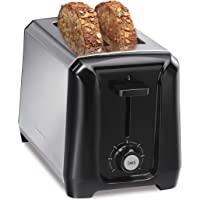 Hamilton Beach Stainless Steel 2 Slice Extra Wide Toaster with Shade Selector, Toast Boost, Slide-Out Crumb Tray, Auto-Shutoff and Cancel Button, Black (22671)