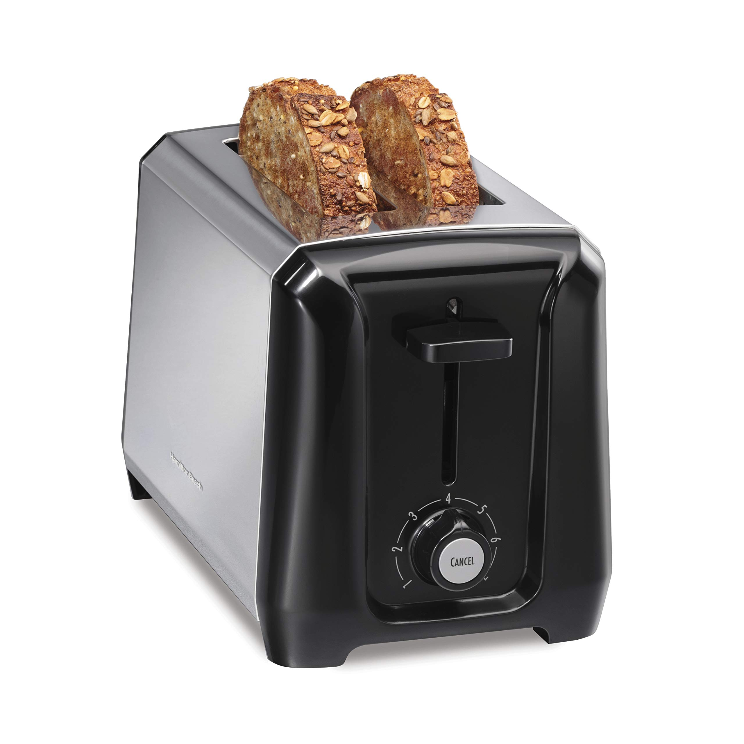 Hamilton Beach Stainless Steel 2-Slice Extra-Wide Toaster with Shade Selector, Toast Boost, Slide-Out Crumb Tray, Auto-Shutoff and Cancel Button (22671) by Hamilton Beach
