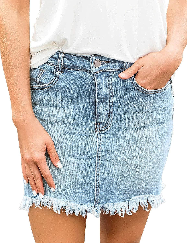 Andopa womens Raw Hem Over Waist Embroidered Denim Slim Rose Bodycon Shorts