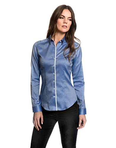 Embraer Blusa, Ajuste Moderno, Oxford, Lisa