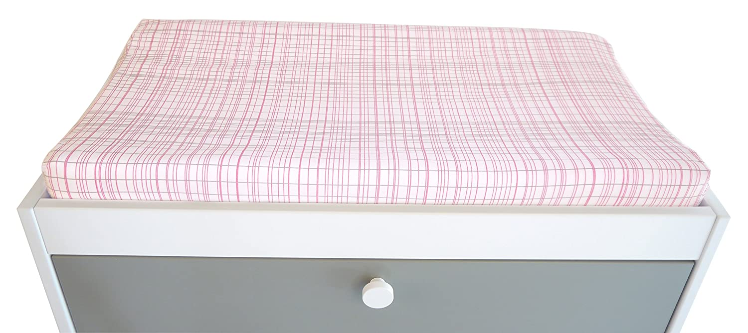 Blue HB14004-BLU Spot On Square Hashtag Organic Cotton Fitted Changing Pad Cover