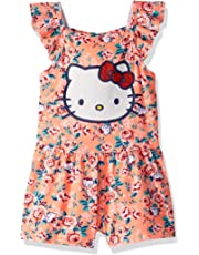 cff764413 Hello Kitty Baby Girls' Knit Romper, Black/Pink Floral