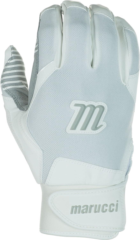 Marucci Youth Ventureバッティング手袋 B017T8Y3W6 Medium|ホワイト ホワイト Medium