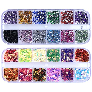 5pcs Bling Stickers Gem Sparkle Strip Stickers Decals Adhesive Stick on Crystals