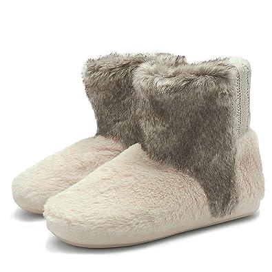 KuaiLu Botas De Punto Holgadas y Acogedoras para Zapatillas De Mujer Suela Resistente Antideslizante: Amazon.es: Zapatos y complementos