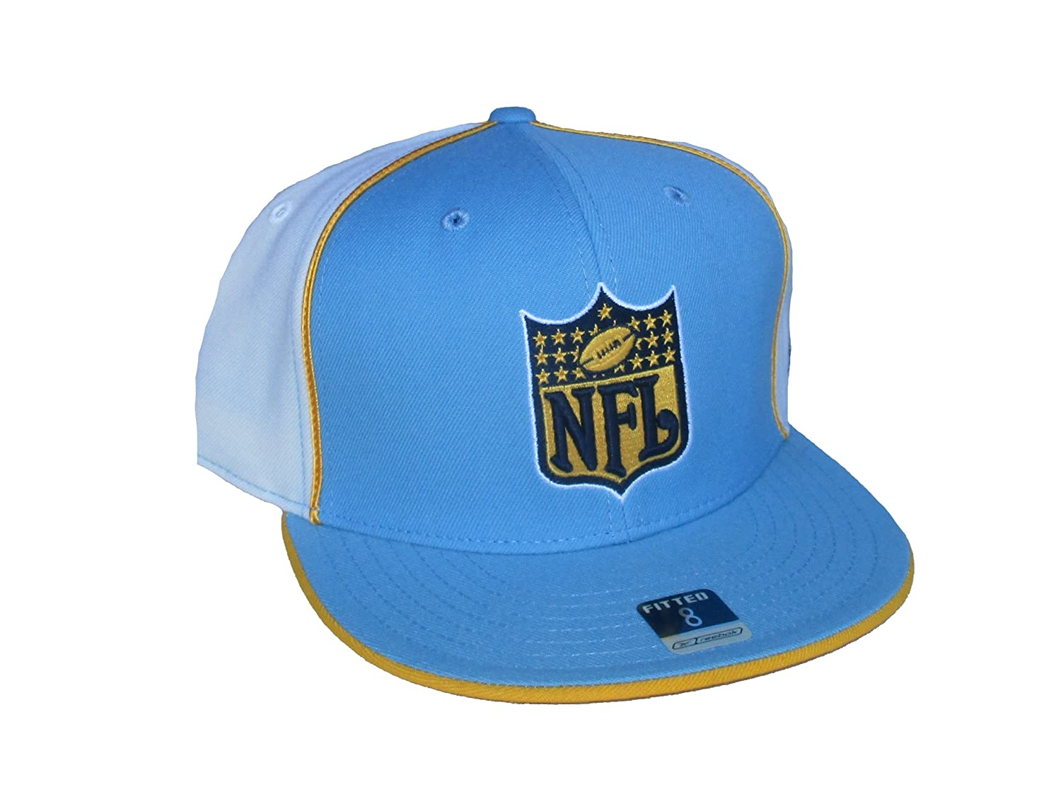 Amazon.com   NFL Shield Logo San Diego Chargers Fitted Size 8 NFL Authentic  Players Blue   Gray Side Panel Hat Cap   Sports   Outdoors f7d148d020d